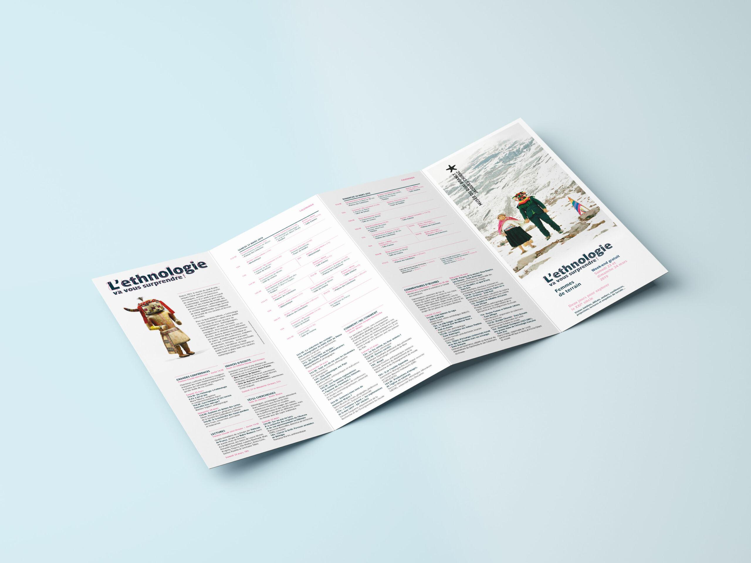 Design graphique et éditorial de la brochure L'ethnologie va vous surprendre !