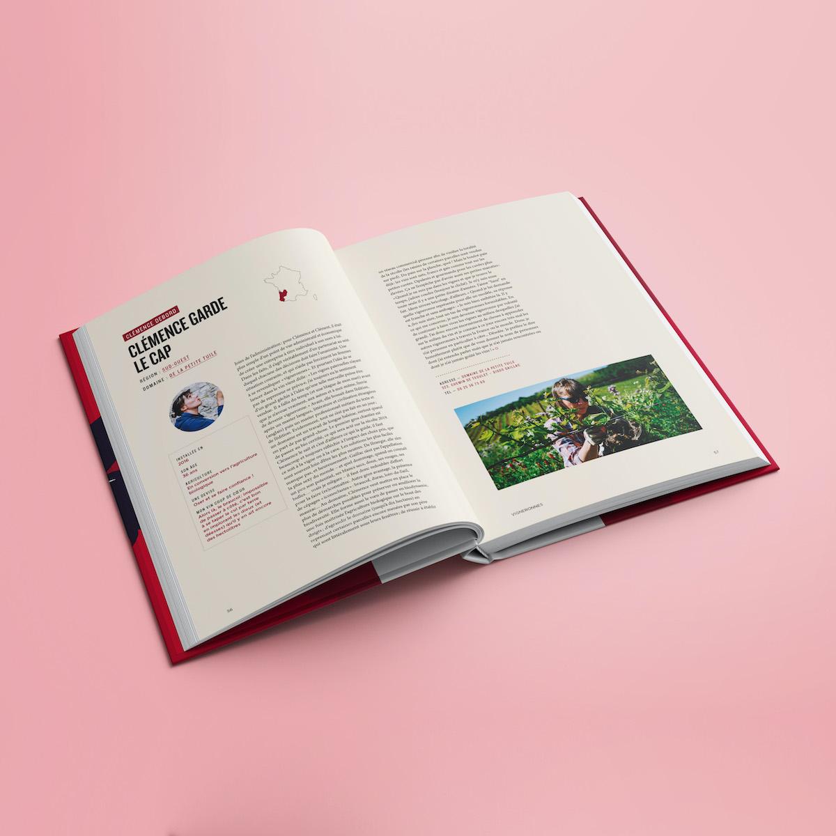 mock up design vigneronnes livre