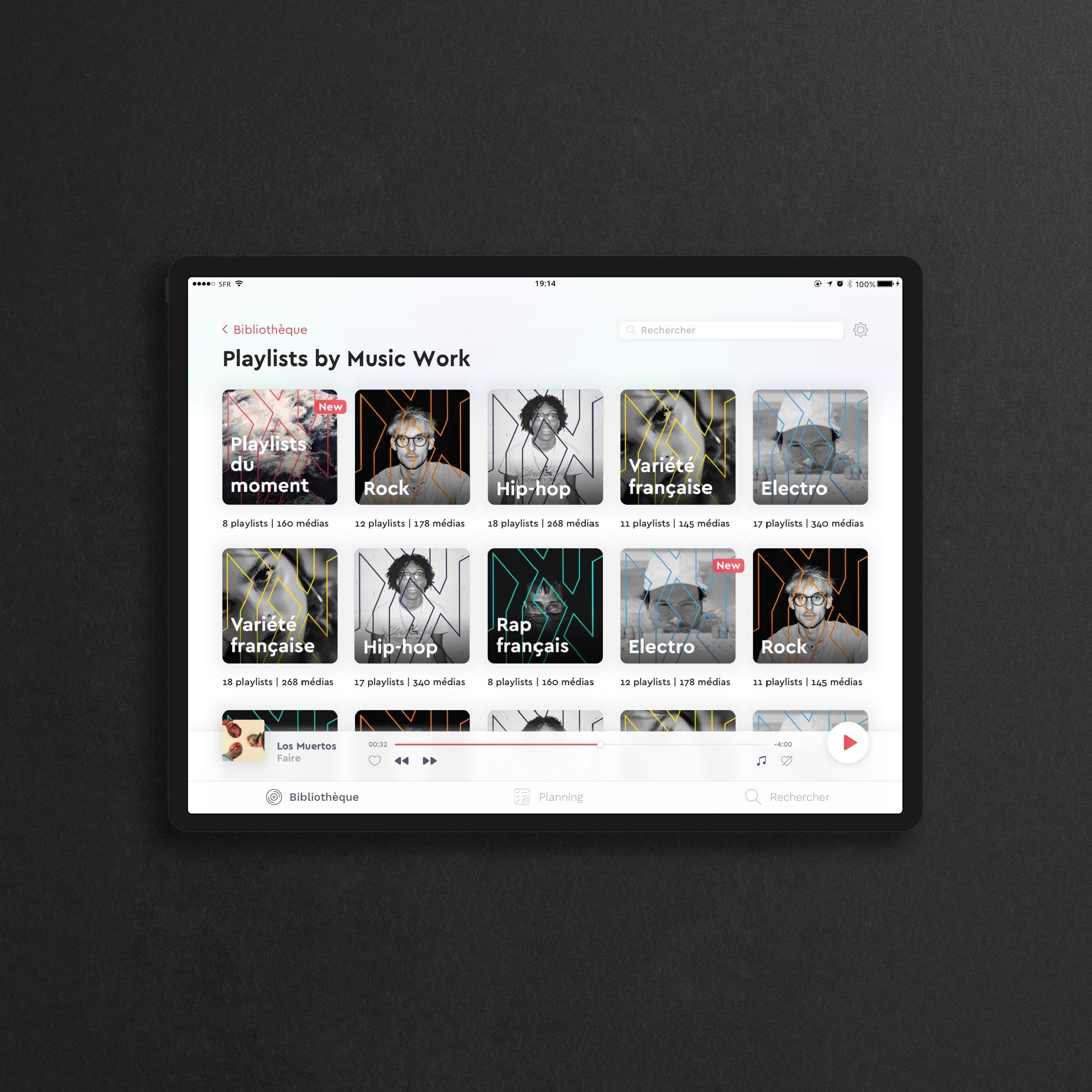 ux ui app music work page 7