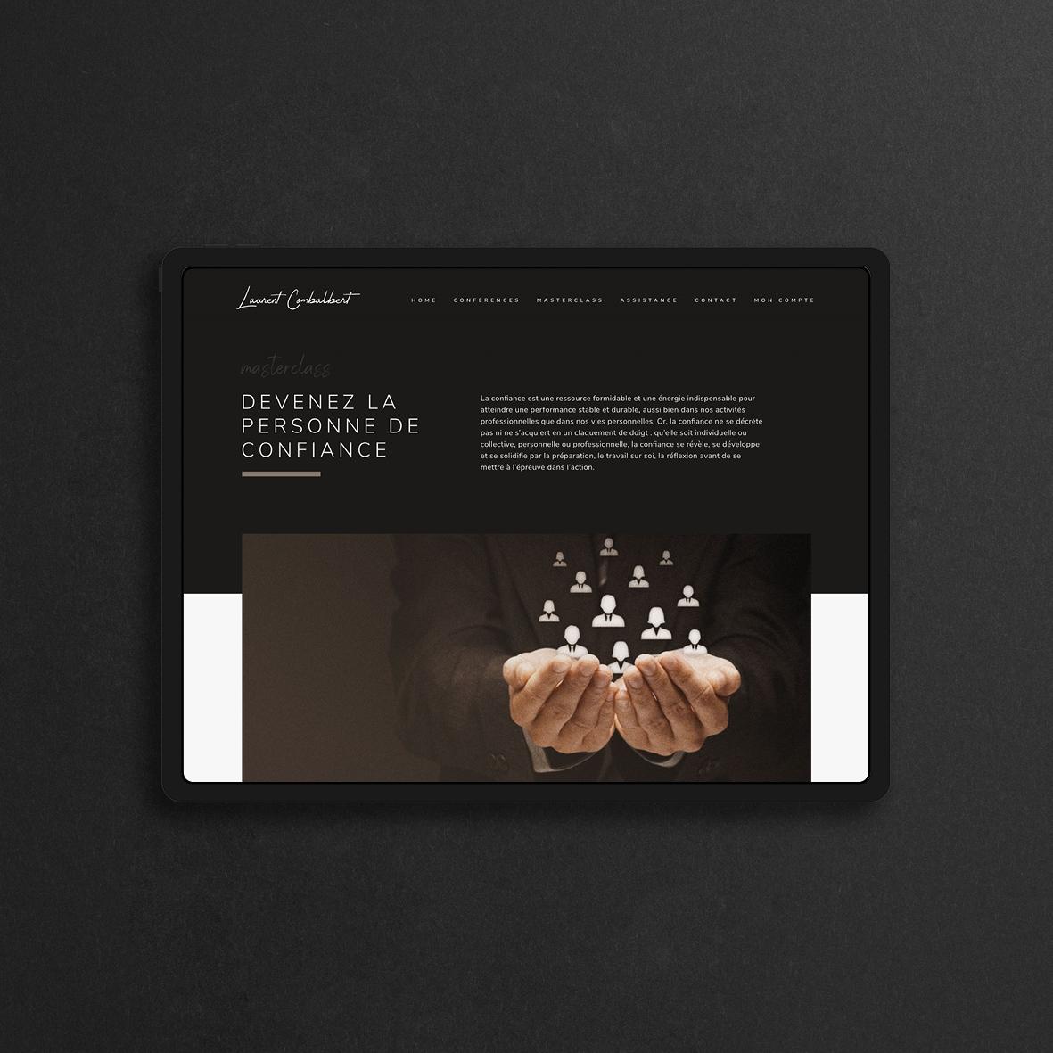 UI et UX du site de Laurent Combalbert, fondateur de The Trusted Agency