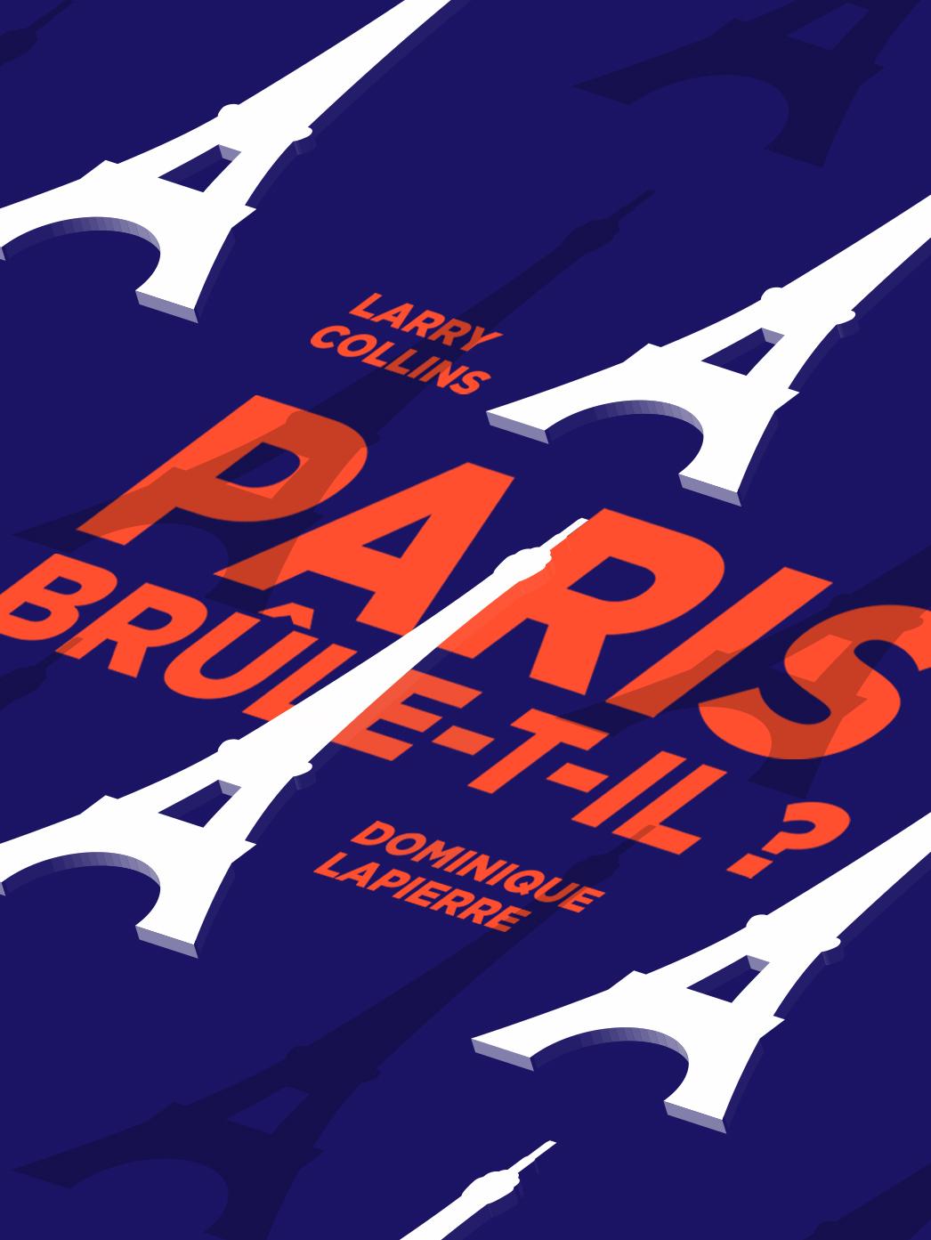 Mock-up de l'affiche pour le roman « Paris brûle-t-il ? »