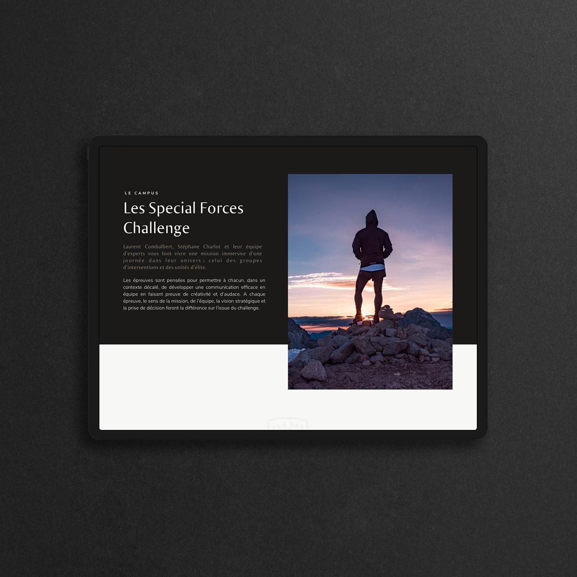 UI et UX du site de The Trusted Agency.