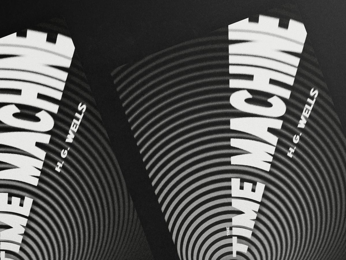 Photo du mock up du livre The time Machine